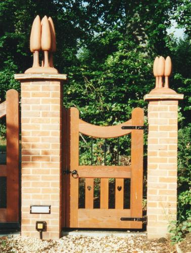 Maggie Curtis -  Gate Finials for a Charles Voysey House