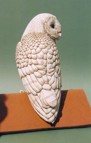 Maggie Curtis - Barn Owl ornamental ridge tile
